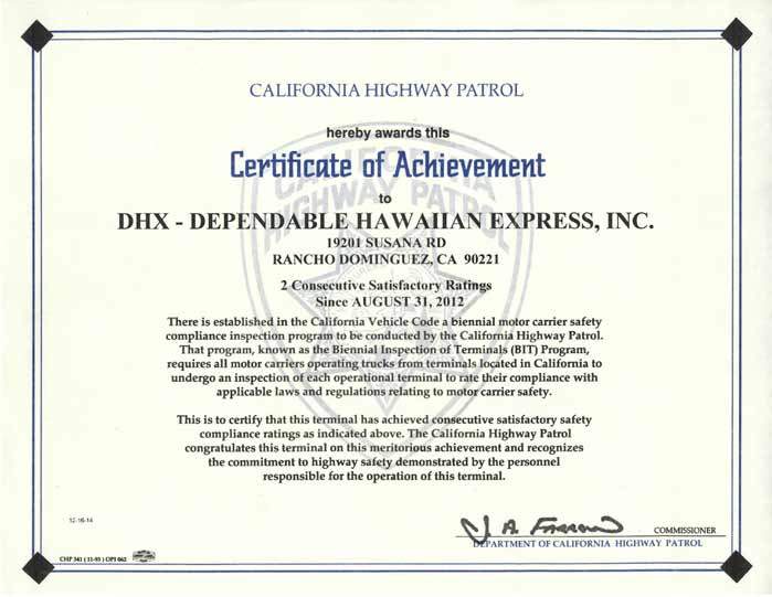 Shipping certifications dgx dependable global express for Motor carrier certificate of registration