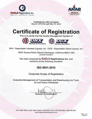 DGX is ISO Certified